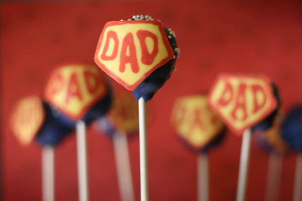 super dad cake pops