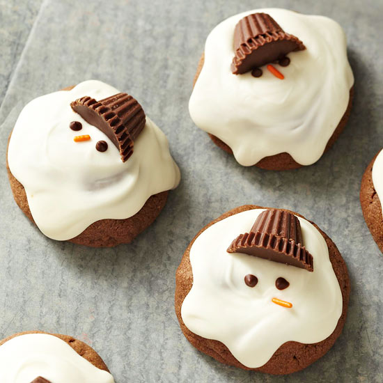 Melted Snowman Reese's Cup Cupcakes