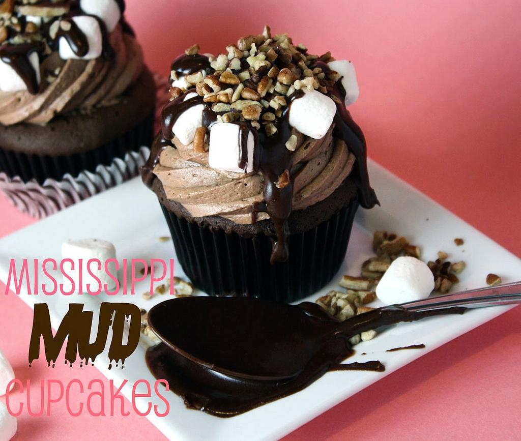 Missippi Mud Slid Cupcakes
