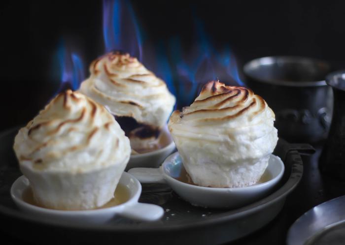 Flaming Baked Alaska Cupcakes 1a