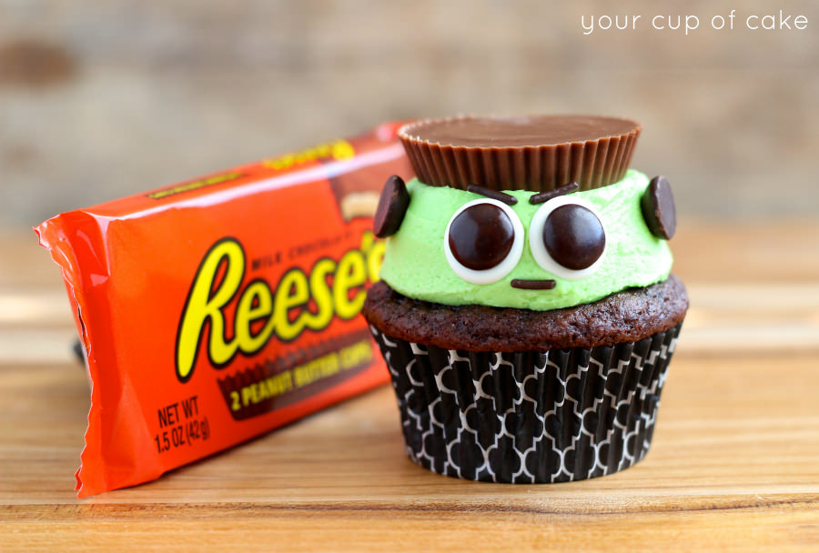 Reeses-Frankenstein-Cupcakes