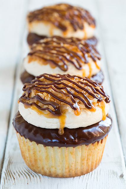 Samoa cupcakes and recipe