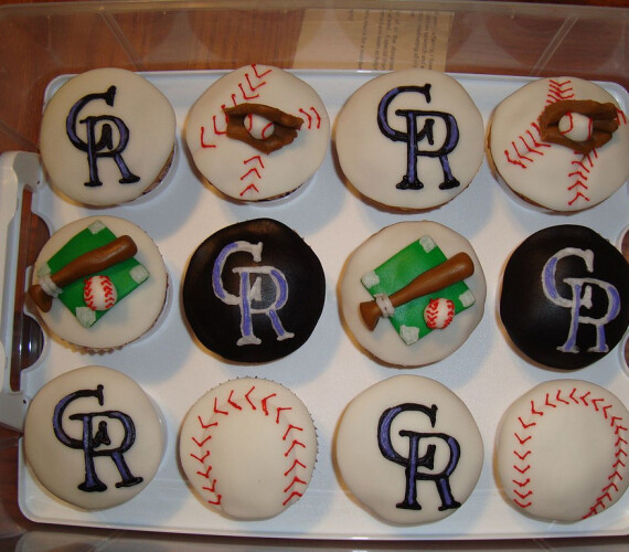 Colorado Rockies Baseball Cupcakes – Design